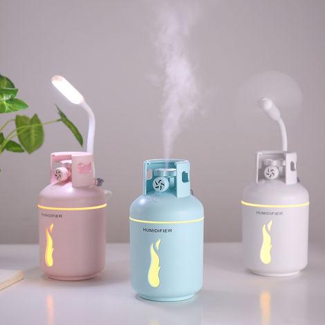 300ML humidificateur d'air ultrasonique Aroma Huile Essentielle Diffuseur USB brumisateur Mist Maker 4 en 1 pour Home Office, bleu