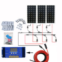 300W 12V Solar Panel off grid kit Mono Solar panel & 60A power charge Controller