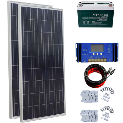 300W off Grid Solar Panel Kit 60A Charge Controller & 100AH