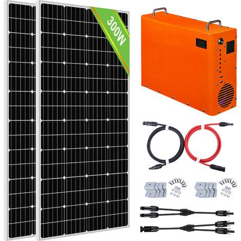 300W Sistema completo de paneles solares 1 kW Generador de maleta portátil 1 kW · h Batería LiFePO4