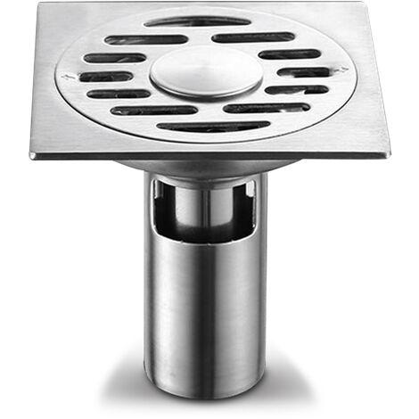 304 acier inoxydable salle de bains machine a laver deodorant drain de sol double usage joint d'eau profonde 61214 argent