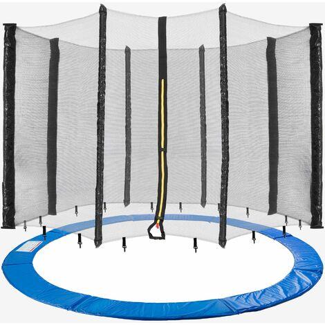 305 cm Coussin de protection pour trampoline + filet pour 8 tiges