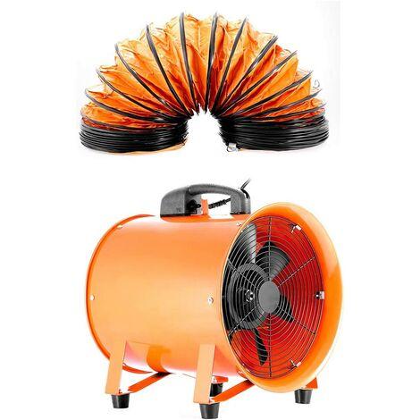 30,5 cm Portable industriel ventilateur axial souffleur Atelier Extracteur d'air + Conduit
