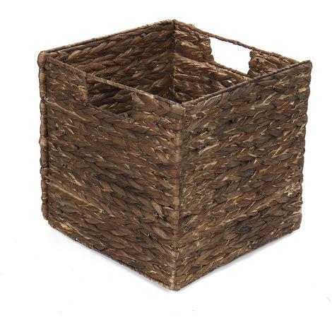 30.5cm * 30.5cm Cestas de almacenamiento de mimbre tejidas Baño Cocina Hecho a mano Hasaki