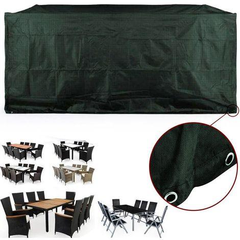 308*138*89cm Vert Housse de Protection Table de Jardin ...