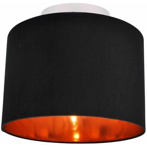 30cm Faux Silk Metallic Inner Ceiling Light Adj Flush Shade - 4 Colour Options