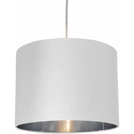 30cm Faux Silk w/ Metallic Inner Ceiling Light Pendant Shade - 4 Colour Options