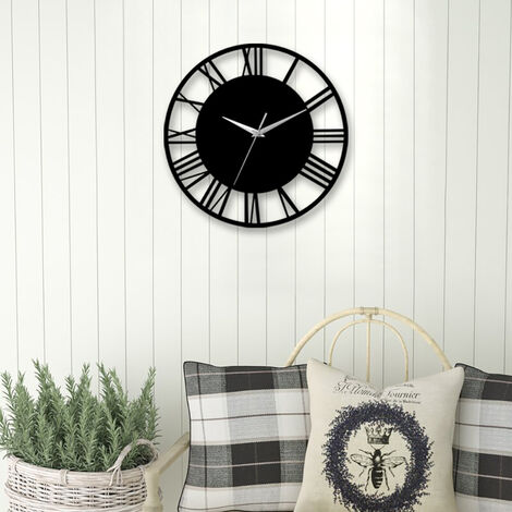 30CM Large Roman Numerals Open Round Wall Clock