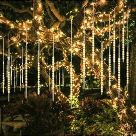 30CM partie LED lumières douche pluie chutes de neige arbre de Noël jardin extérieur Jaune - Jaune