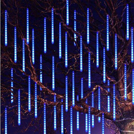 30CM Party LED Lights Douche Pluie Chutes de neige Arbre de Noël Jardin Extérieur Rouge Bleu - Bleu