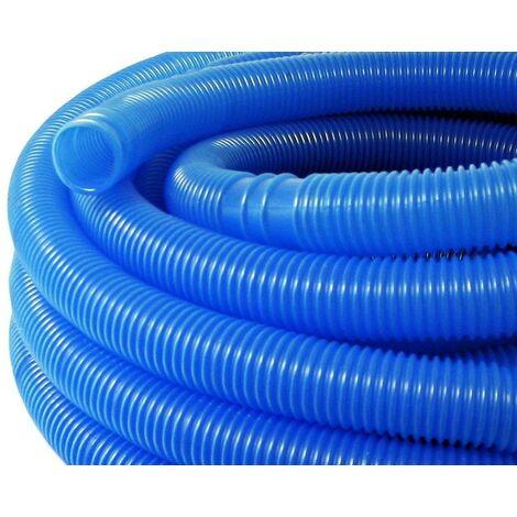30m 38mm Tuyau de piscine BLEU avec sections préformées - Bleu