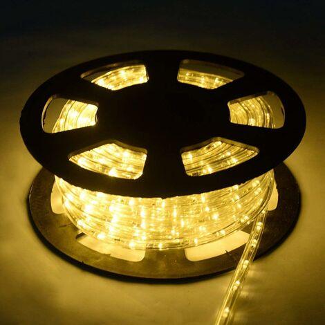 30M Luz Manguera 1080 LED Luces de Navidad Fiesta Jardín Hogar Decoración para Exterior Interior Blanco Cálido