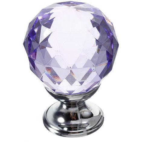 30mm Crystal Glass Door Handles Drawer Kitchen Furniture Drawers Sasicare