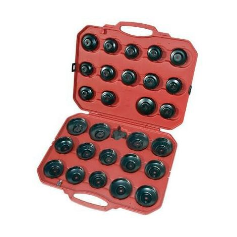 30pc Filter Wrench Kit -Cup Type 3/8 & 1/2 Drive