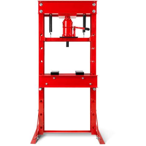 30T Prensa hidráulica de taller (30 toneladas de fuerza de prensado, incluye 2 soportes de prensa, altura de trabajo ajustable en 7 posiciones, peso 108 kg)