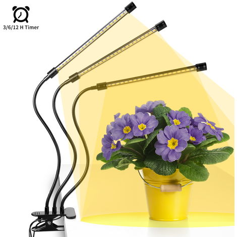 30W 60LED Plant Grow Light Plant Growing Lamp with 3H/6H/12H Timer & 6 Dimmable Levels for Indoor Plant Flower Cultivation