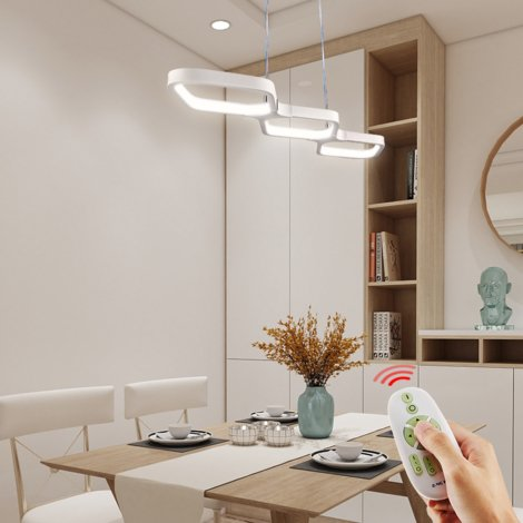 30W Dimmable LED Ceiling Pendant Light with Remote Control Hanging Lamp for Kitchen Island Bar Cafe Dining Room