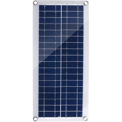 30W double panneau solaire USB avec pince crocodile et chargeur de voiture, kit de chargeur de batterie solaire DC12-18V