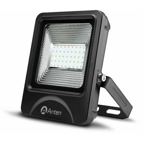 30W LED Fluter mit 3600 Lumen in Warmweiß(3000K), Schuppe ähnelnder Reflektor Flutlichtstrahler Strahler, IP66 wasserdicht led Außenleuchten Flutlicht Scheinwerfer, inkl.Kabelverbinder