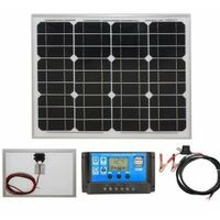 30w Mono-Crystalline Solar Panel PV Photo-voltaic with charging kit