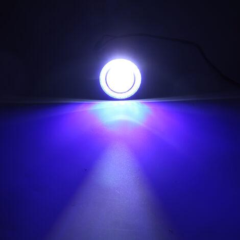 30W voiture antibrouillard ampoules LED Angel Eyes projecteur de lampe halo (bleu, 2,5 pouces)