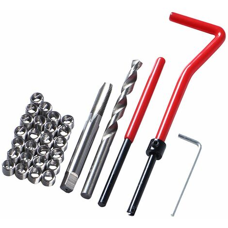 30x Kit d'insertion de réparation de filetage métrique M5 M6 M8 Car Pro Coil Tool B