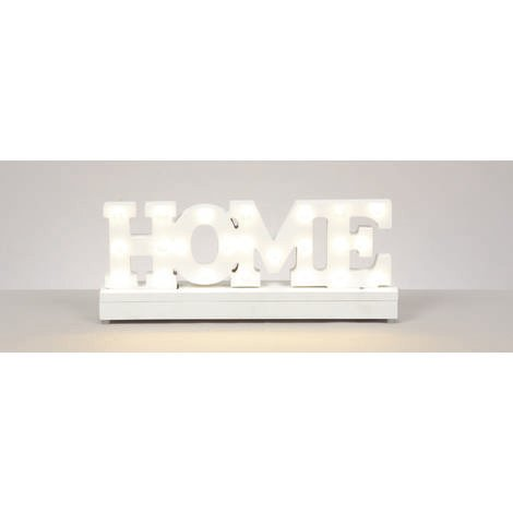 30x12cm Lit Home Sign with Warm White LED's