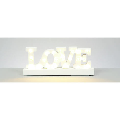 30x12cm Lit Love Sign with Warm White LED's