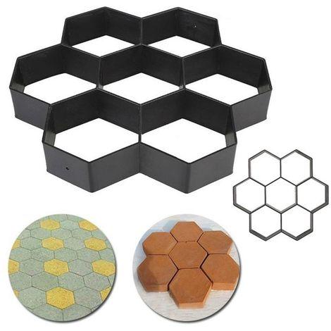 30X30Cm Plastic Tile Paving Mold Aisle Patio Concrete Garden Hasaki