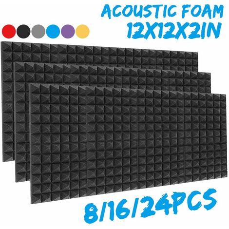 30x30x5cm épais mousse acoustique de Studio insonorisée panneaux d'insonorisation panneaux de carreaux de coin (noir, seulement 1 pièces)