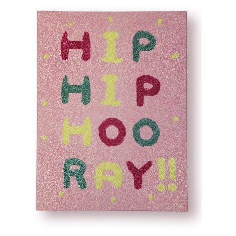 30x40cm Arthouse Imagine Fun 2 Girl's Life Hip Hip Hooray Printed Canvas 004674
