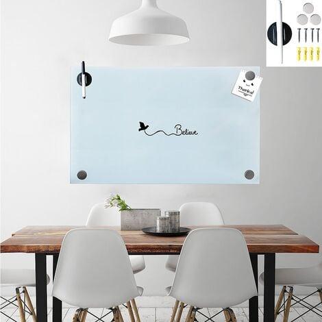 30x50cm Glasmagnettafel Weiß Whiteboard Glasboard Magnetwand Schreibtafel