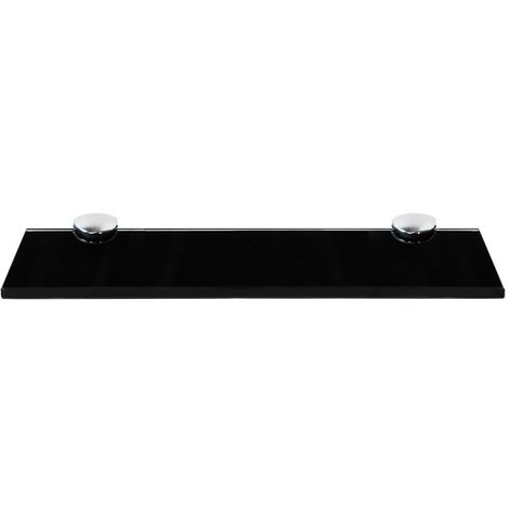 30x80CM Glass shelf + holder Black Bathroom shelf Mirror shelf Bathroom shelf Console