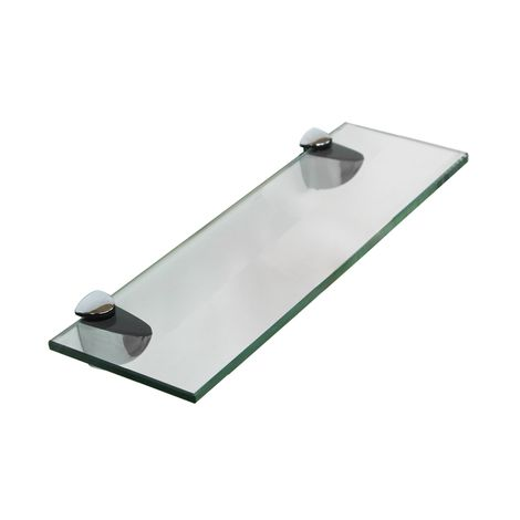 30x8CM Glass shelf + holder Bathroom shelf Mirror shelf Bracket