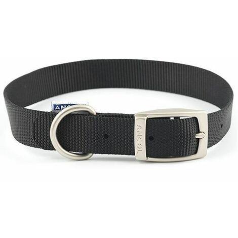 "310010 - Heritage Nylon Collar Black 30cm/12 Sz 1"""