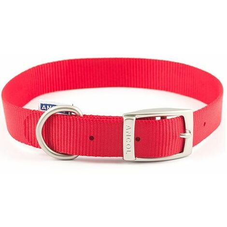310020 - Heritage Nylon Collar Red 30cm/12 Sz 1""