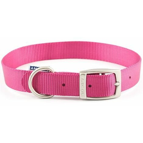 "310050 - Heritage Nylon Collar Pink 30cm/12 Sz 1"""