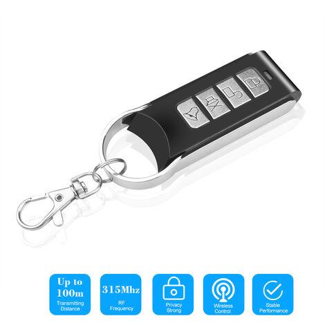 315 Mhz Sans Fil Clone Commutateur Clonage Copie 315Mhz Portail Electrique Ouvre-Porte De Garage Duplicateur De Commande Telecommande Portable Key Fob, Noir