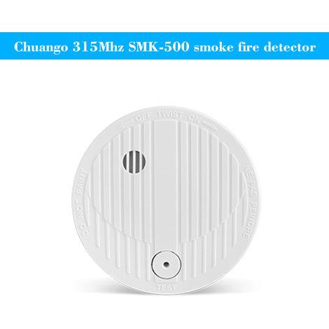 315Mhz SMK-500 Alarma de seguridad inalambrica Detector de humo de incendios