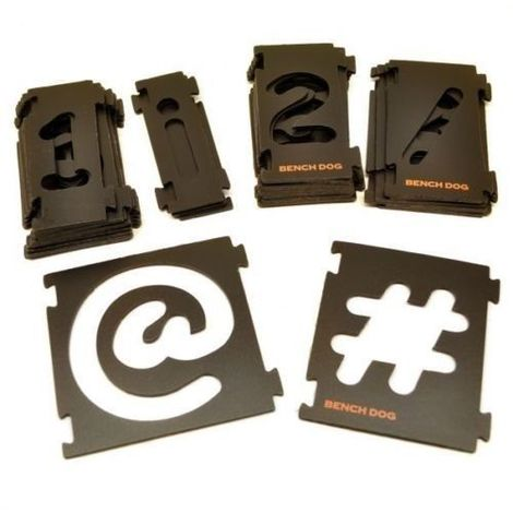 31pc NUMBER AND SYMBOL SIGN TEMPLATE STENCIL CUTTING SIGNS ROUTING (237890)