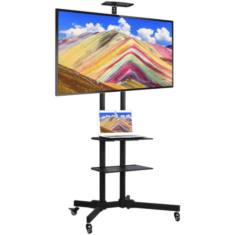 "32""-65"" Mobile TV Cart Floor Stand Mount Home Display Trolley for Plasma/LCD/LED"