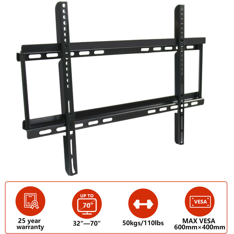 Image of Green Bay - 32'-70' Fixed TV Wall Bracket For LED LCD Plasma & Curved Screens - VESA 600x400mm