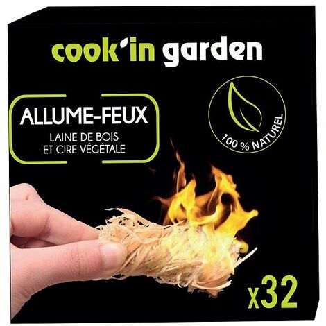 32 Allume feux en laine de bois Cook'in Garden
