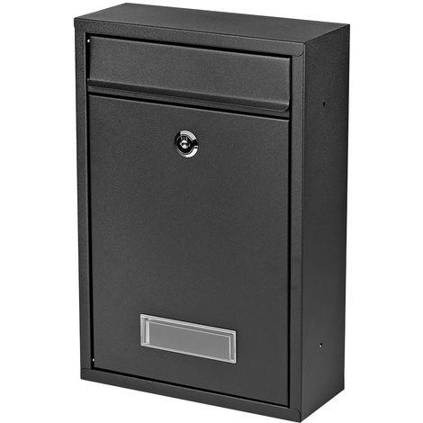 32 Buzón de pared negro de prensa de correo de acero