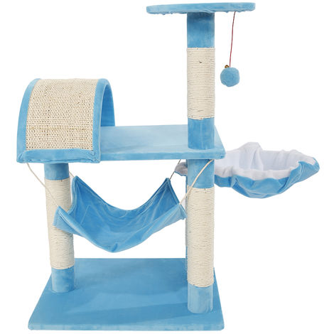 "32"" Cat Tree Tower Condo Sisal Scratcher Furniture Kitten Pet House Hammock Toy - Different colours"