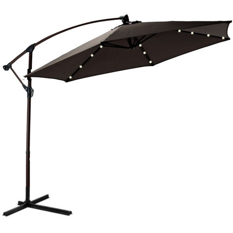 32 Led 3 Meter Banana Parasol - Various colours available