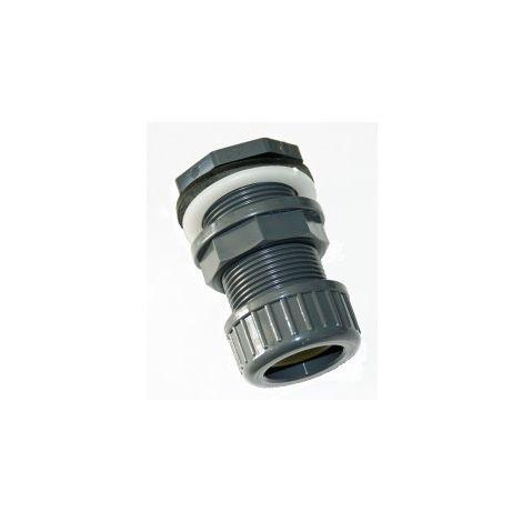ø 32 mm Traversée de paroi pvc + écrou de serrage