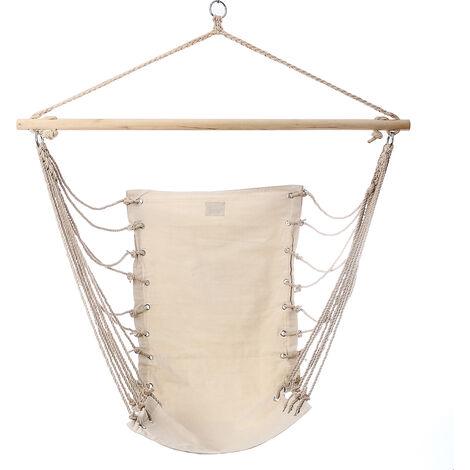32 '' X 17 '' Hammock Chair In White Canvas Outdoor Garden Balan??Interior Hanging Oire