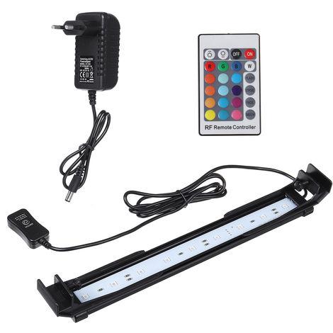32cm Acuario Rampa 9 LED 10W Lámpara de iluminación RGB con control remoto
