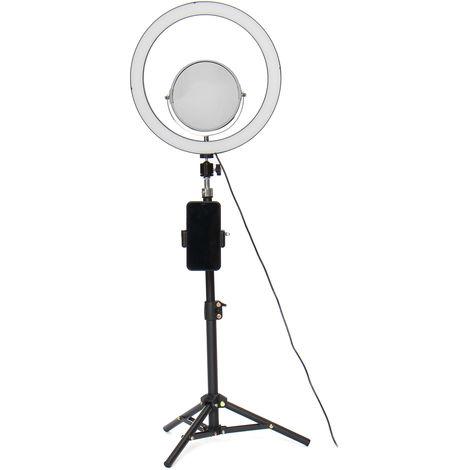 32cm Beauty Makeup Lamp With Mirror 60Cm Selfie Bluetooth Remote Control - 3 Lights Tripod Phone Holder Hasaki